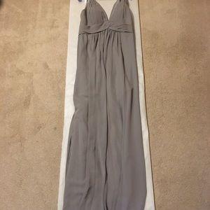 Azazie Maren Dress in Silver